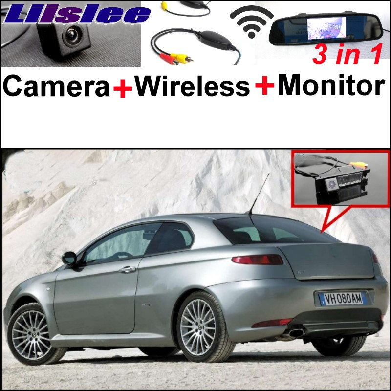 Liislee Wireless Receiver + Mirror Monitor EASY DIY Parking System + 3 in1 Special WiFi Rear View Camera For Alfa Romeo AR GT special rear view wifi camera wireless receiver mirror monitor easy diy back up 3 in1 parking system for nissan terrano