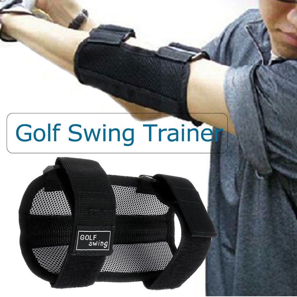 Golf Training Aids Swing Hand Straight Practice Elbow Brace Posture Corrector Support For Beginners Arc Trainer Accessories3.88