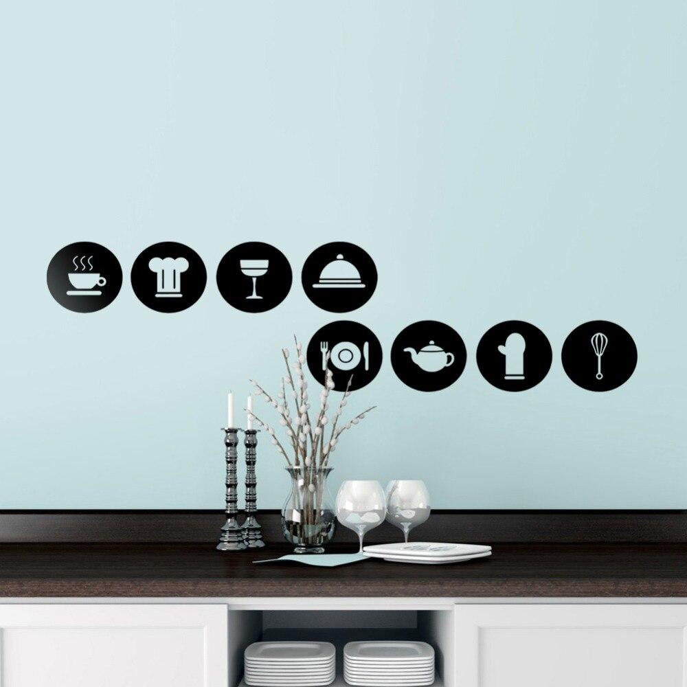 Aliexpress.com : Buy Tableware Pattern Wall Stickers DIY Kitchen Art ...