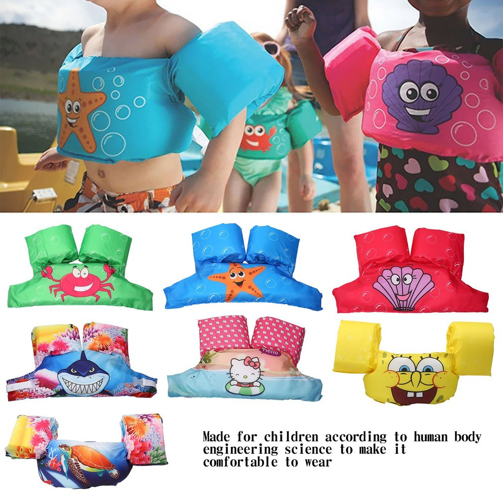 Toddler Life Jacket Kids Swim Vest Arm Bands Swimming Pool