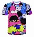 2017 casual Patrick star hiphop concert shirt O-neck sweatshirt 3d print womens/mens cartoon pullover summer Tees T-shirts