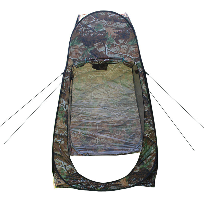 1Person Outdoor Camping Hiking Picnic Beach Changing Room Pop Up Folding Fishing Tent Maple Leaf Camouflage Portable Toilet Tent high quality outdoor 2 person camping tent double layer aluminum rod ultralight tent with snow skirt oneroad windsnow 2 plus