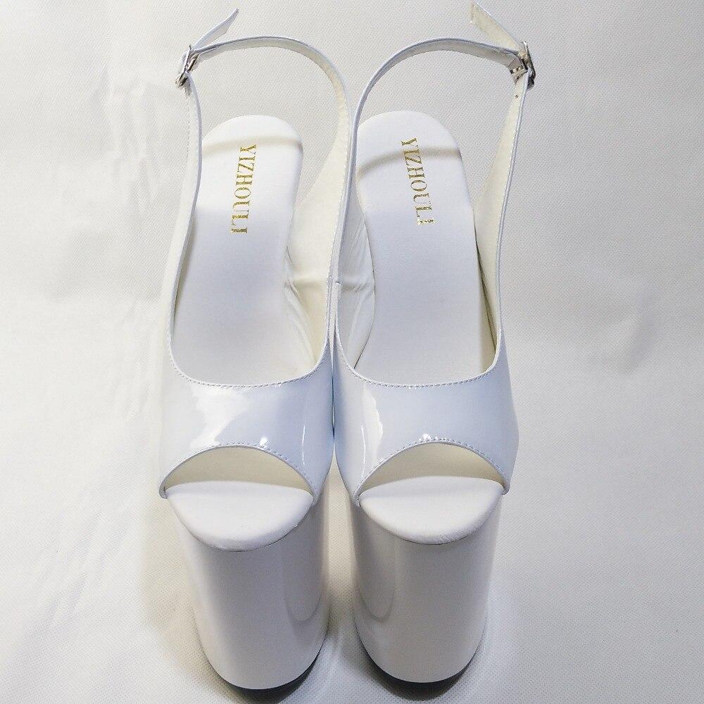 8 Cm Chaussures Femmes De Peep Plate Blanc forme Pouce Sandales Ouvert Talons Bout Haute Mariage 20 Mode Robe Pompes Sexy Talon 4Pq4CrTw