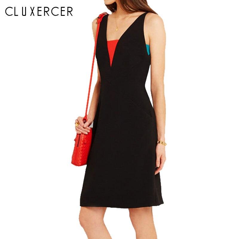 2019 robe de bureau élégante robes d'été femmes col en v porter au travail vêtements moulante robe dame travail vestidos