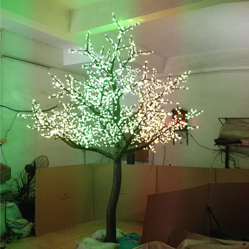 outdoor blossom tree led lights. aliexpress.com : buy 2.5meter 1728leds christmas aritifical 3color changing led cherry blossom tree light for xmas outdoor garden decoration from reliable lights r