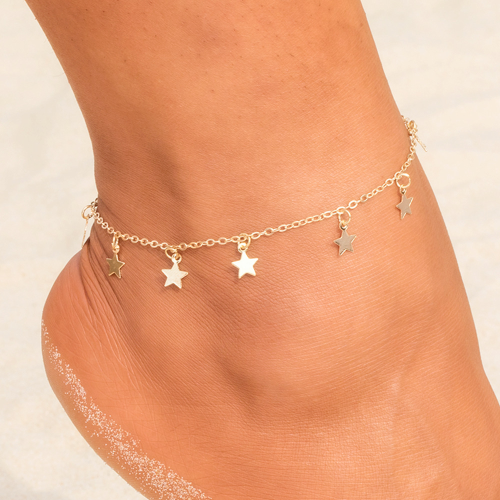 Fashion Simple Star Pendant Anklet Female Anklets Barefoot Sandals Foot Chain 2019 New Ankle Bracelets for Women Beach Jewelry