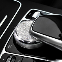 Styling Crystal Multimedia Knob Cover Adjustment Button Trim for Mercedes Benz C Class W205 GLC200 X253 E Class W213 E300L E200L