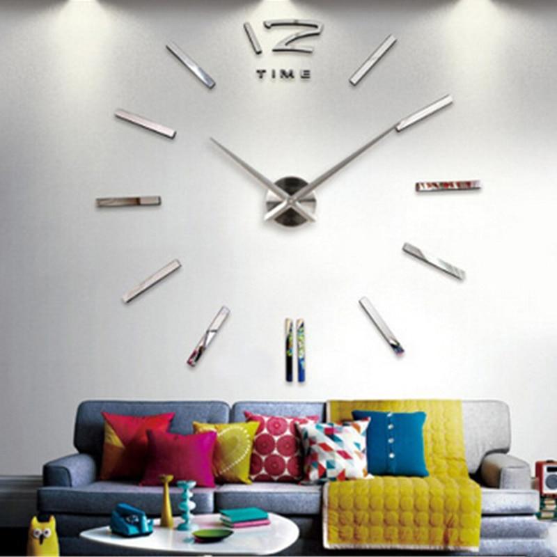 Creative Diy Ikea Wall Stickers Watch Clock Home Decor Living Room Saat Reloj Duvar Saati