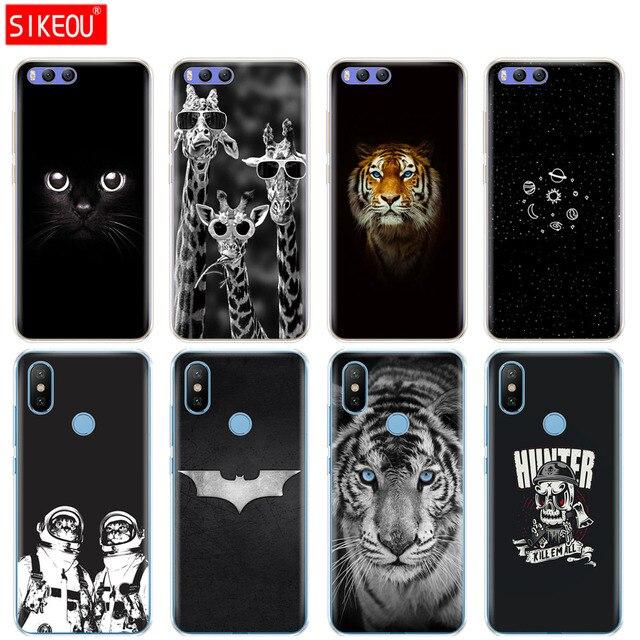 Silicone Cover Case For Xiaomi Mi 8 8SE A1 A2 5 5S 5X 6 Mi5 MI6 NOTE 3 MAX Mix 2 2S Cute tigon beast 360 full protective bags