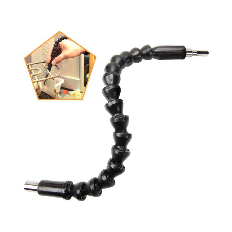 DEKO 295mm Flexible Drill Shaft Electronics Drill Black Flexible Shaft Bits Extention Screwdriver Bit Holder Connect Link