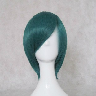 Cosplay Wig - Katekyo Hitman Reborn Cosplay Fran Party Wig 35cm Deep-green Short Straight Hair Free Style Hair For Halloween Price Remains Stable