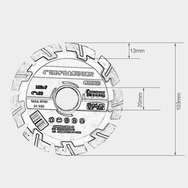 LAOA deimantinio pjūklo deimantiniai šlifavimo diskai betoninio - Ašmenys pjūklams - Nuotrauka 4