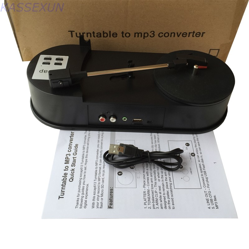 Turntable vinyl to mp3 converter capture ,convert turntable to USB Flash Disk/SD Card in MP3 format directly, 33 Free shipping c graupner ouverture in g minor gwv 471