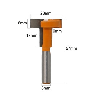 """Image 2 - 1 PC 8mm Shank """"T"""" Jointing และ Slotting เครื่องตัด T Track Slotting & T  ช่องใส่ไม้ Router Bit Milling Cutters สำหรับไม้"""