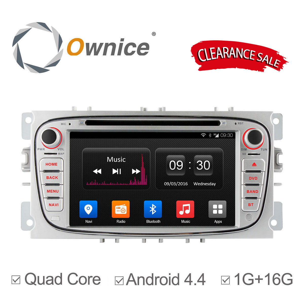 Ownice Android 4 4 2 Din font b Car b font DVD Player For FORD Mondeo