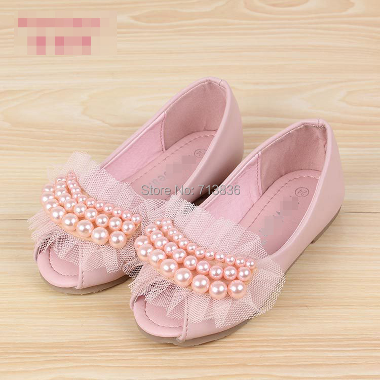 baby Girls wholesale leather shoes, new spring/fall/summer children PEARLS wear, 11AS503-20 [Eleven Story]