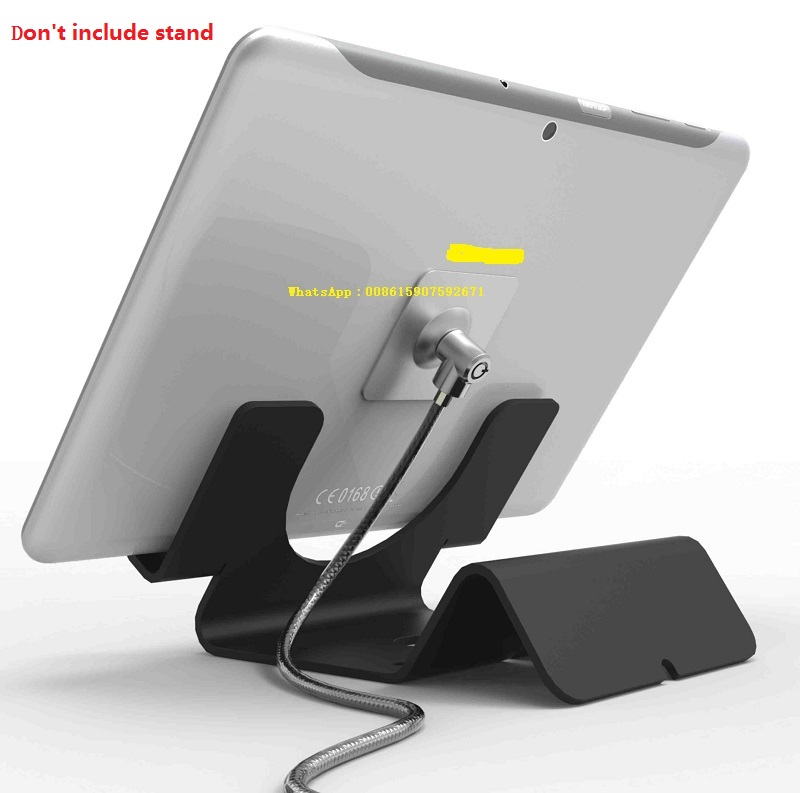 Universal Anti-Theft security lock cable for ipad / tablet / cell phone mobile phone