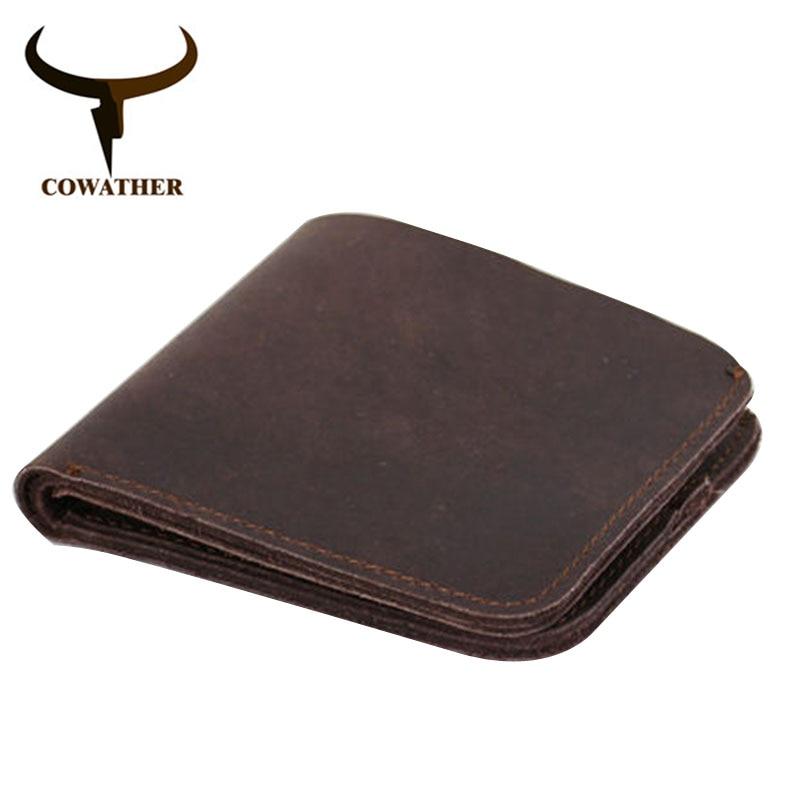 Wallets Craft Handmade Vintage Genuine-Leather Popular High-Quality Original Cross-Style