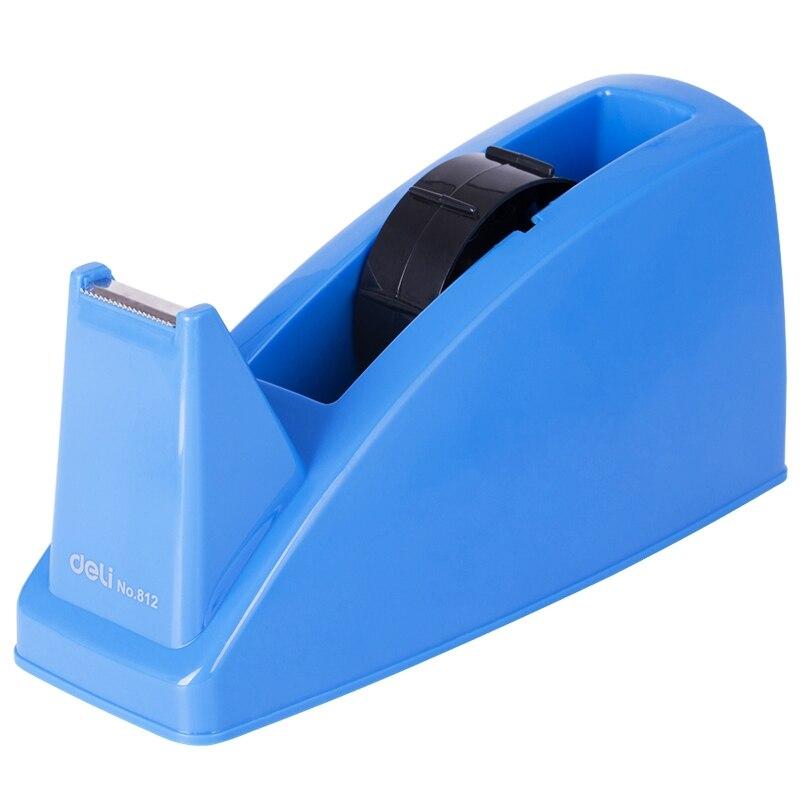 Deli 812 nastro di Cancelleria nastro dispenser per max. 24 millimetri nastro blu e grigio di colore opzionaleDeli 812 nastro di Cancelleria nastro dispenser per max. 24 millimetri nastro blu e grigio di colore opzionale