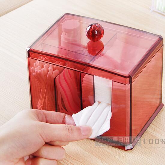Plastic Cosmetic Storage Box Desktop Makeup Organizer Acrylic Jewelry Finishing Box
