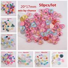 Kawaii hars shell bloem mermaid tail prinses mix kleur plaksteen resin cabochons accessoires(China)