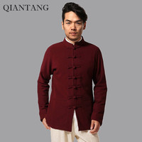 Top Selling Burgundy China Men Jacket Long Sleeves Coat Autumn And Winter Outerwear hombre chaqueta Size M L XL XXL XXXL Mim15D