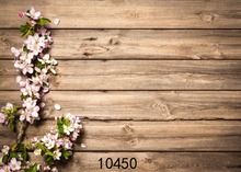 SHENGYONGBAO Art Cloth Custom Photography Backdrops Prop Cherry blossoms&Board Theme Digital Photo Studio Background 10450