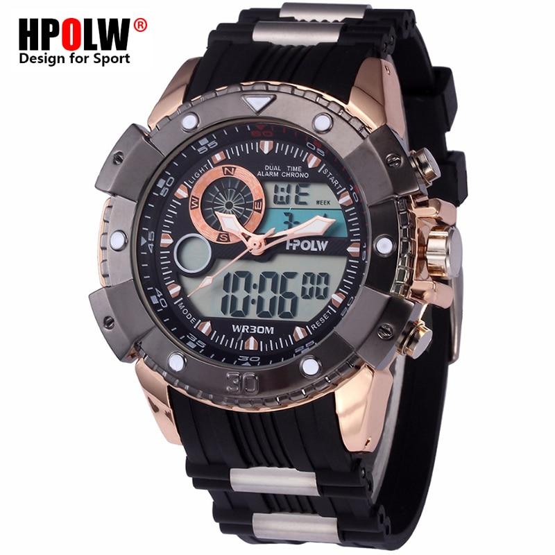HPOLW Men Military Sports Watches Digital LED G Style Electronic Wrist Watches Waterproof Male Shock Clock Man Relogio Masculino hpolw серебристый цвет 11