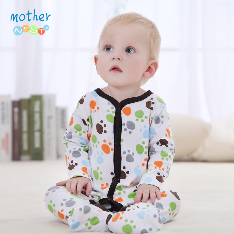 Baby Clothing 2016 New Baby Girl Newborn Clothes Romper Long Sleeve Jumpsuits Produk Bayi, Baby Rompers Summer Boy