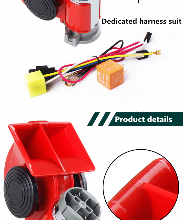 High Super GZHAOER Loud Car Motorcycle Truck 24V Red Compact Dual - Auto Replacement Parts - Photo 2