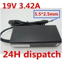 лучшая цена 19V 3.42A 5.5X2.5mm Laptop Charger AC Adapter Power Supply FOR Toshiba c655 C660 L300 L450 L500 1000 PA3714U-1ACA A200 A205