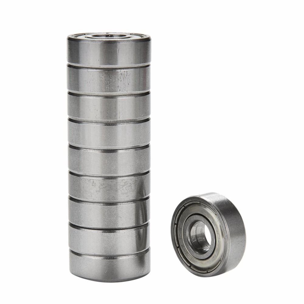 10pcs Double Shielded Miniature High-carbon Steel Single Row 608ZZ Deep Groove Ball Bearing 8*22*7mm 608 ZZ image
