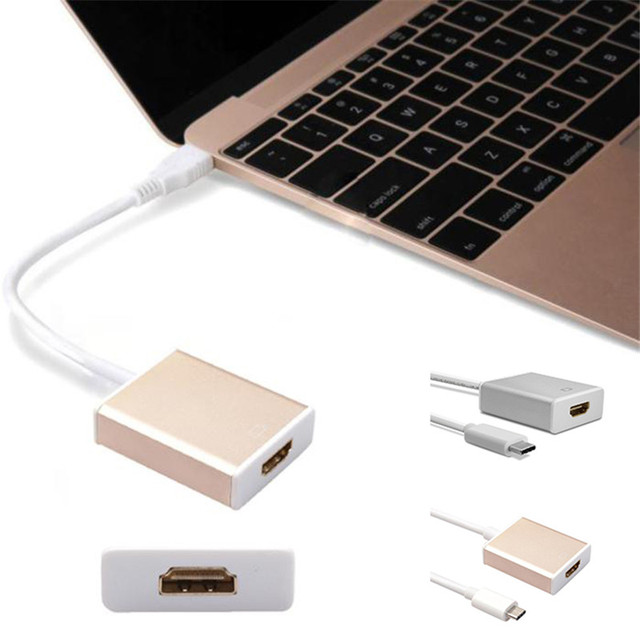 Aluminum USB 3.1 Type C Type-C Male To HDMI Female HDTV 1080P Adapter Convertor Connector Cable Adaptador Adaptateur For Macbook