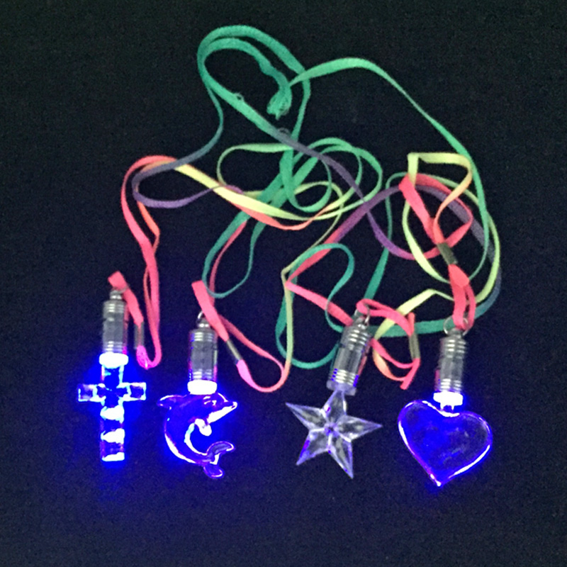 50pcslot led necklace light up toys various pendant flashing light necklace kids gift party birthday christmas supplies toys