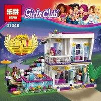 Lepin 01046 644Pcs Girl Friends Club Star Villa House DIY Set Model Building Kits Blocks Bricks