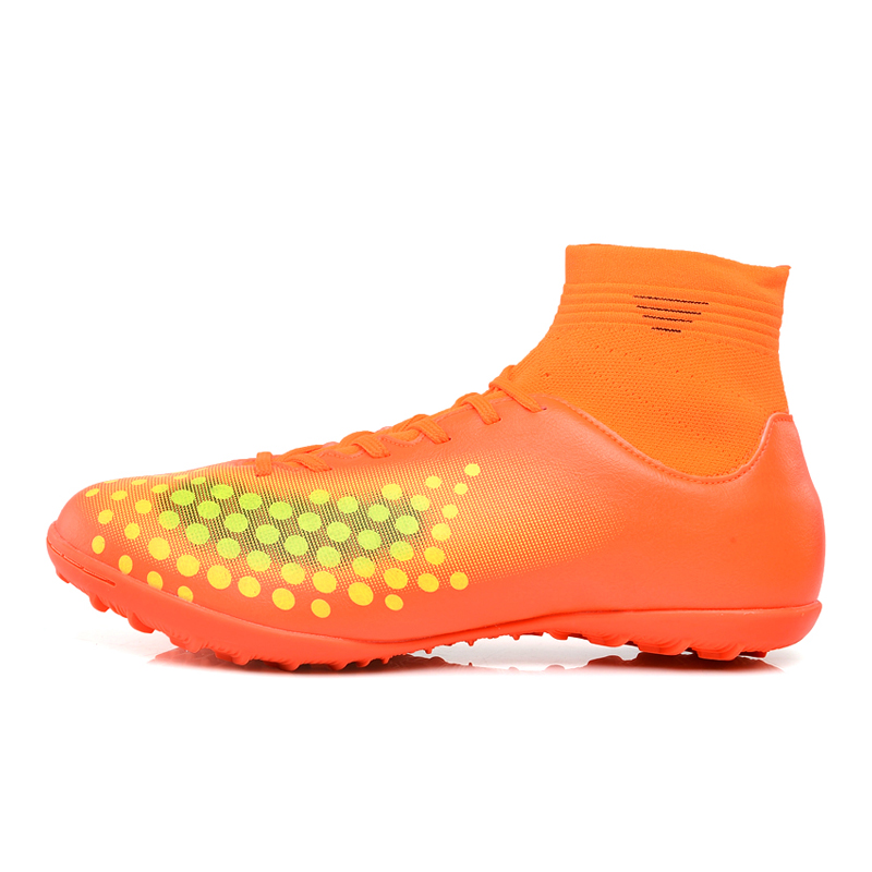 12419e909d5 Ibuller Men s Soccer Shoes 2017 High Ankle Indoor Football Boots With Socks  Boys Futsal Cleats Zapatos De Futbol Con Tobillera-in Soccer Shoes from  Sports ...