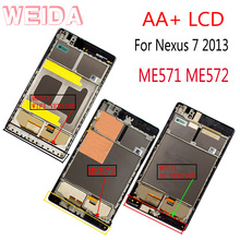 WEIDA For Asus Google Nexus 7 2nd Gen Nexus7 2013 ME571 LCD Touch Screen Assembly Frame ME571K ME571KL ME572 kefu me571k for asus google nexus 7 me571kl me571k 32gb motherboard system board rev 1 4 16gb original board 100