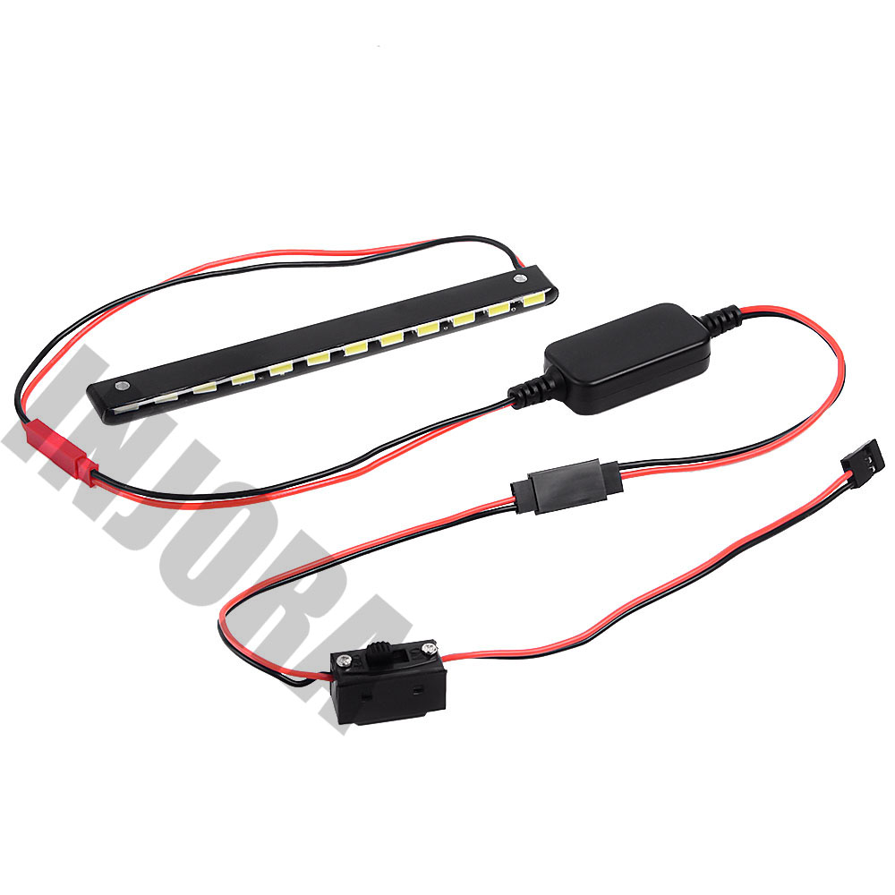 Image 5 - INJORA 12LED 130MM Super Bright Metal Light Bar with Switch for RC Rock Crawler Car Axial Wraith Series 90018 90020 90045-in Parts & Accessories from Toys & Hobbies