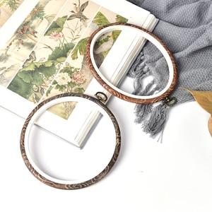 Image 4 - 12 29 Cm Praktische Borduurringen Frame Set Bamboe Houten Borduurwerk Hoepel Ringen Voor Diy Kruissteek Naald Craft gereedschap