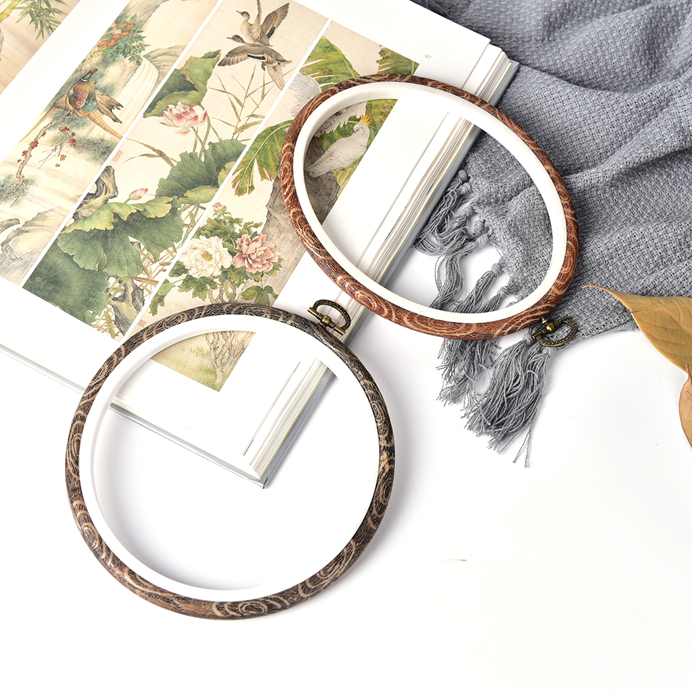 Image 4 - 12 29cm Practical Embroidery Hoops Frame Set Bamboo Wooden Embroidery Hoop Rings for DIY Cross Stitch Needle Craft Tools-in Sewing Tools & Accessory from Home & Garden