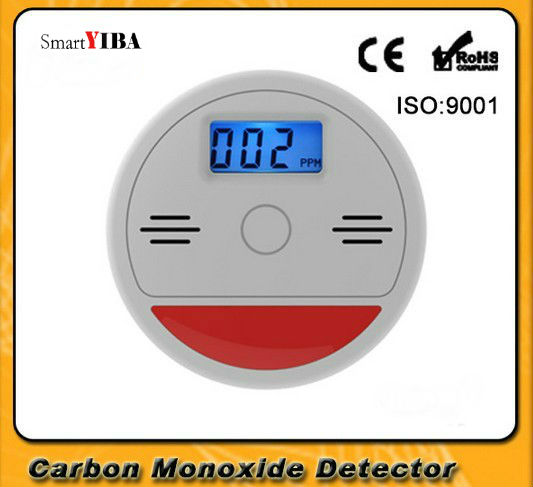 SmartYIBA High Sensitive Independent LCD Display Carbon Monoxide CO Detector CO Gas Leak Sensor&Detector Alarm