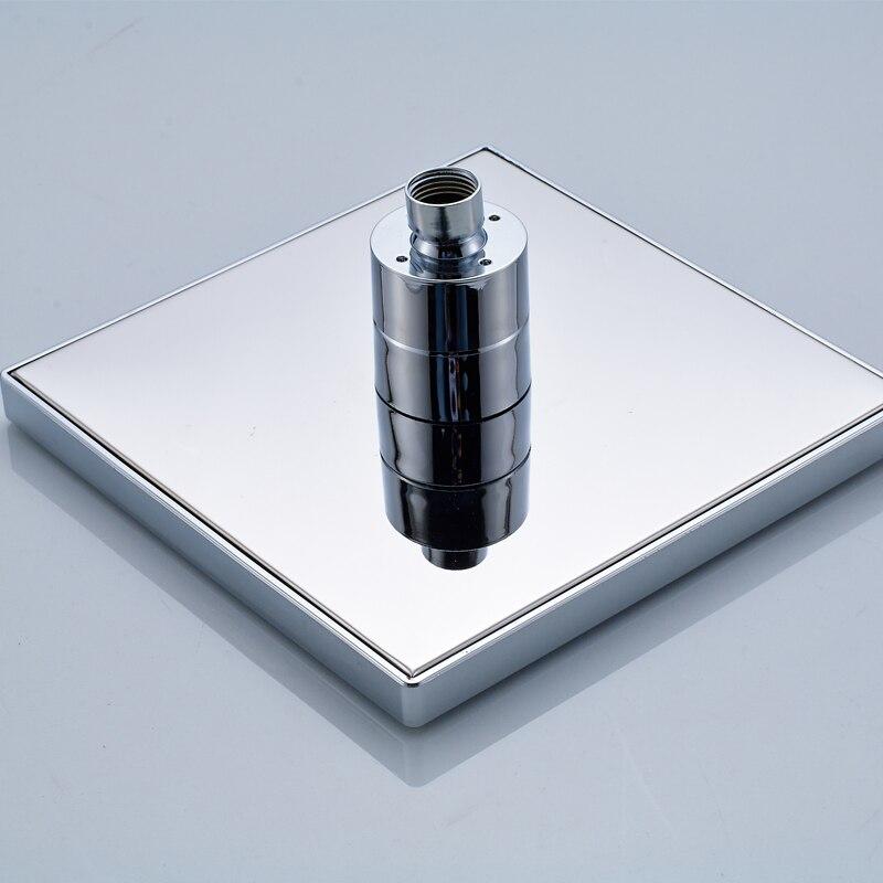 LED Temperature Sensor Shower Head Three color Change Ceiling Top ...
