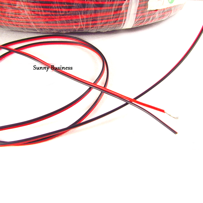 10 medidores 18/20/22/24/26 calibre awg fio elétrico estanhado cobre isolado pvc extensão led cabo de tira fio preto vermelho