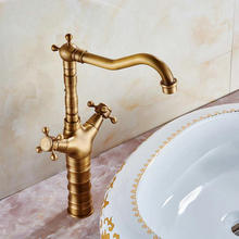 Classic Brass Brashed Finish SEDAL Valve Hot Wateru0026Cold Water Lever Mixer Bathroom  Sink Faucet(China