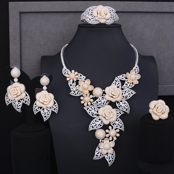 Luxury Blooming Flowers Jewelry Set  3