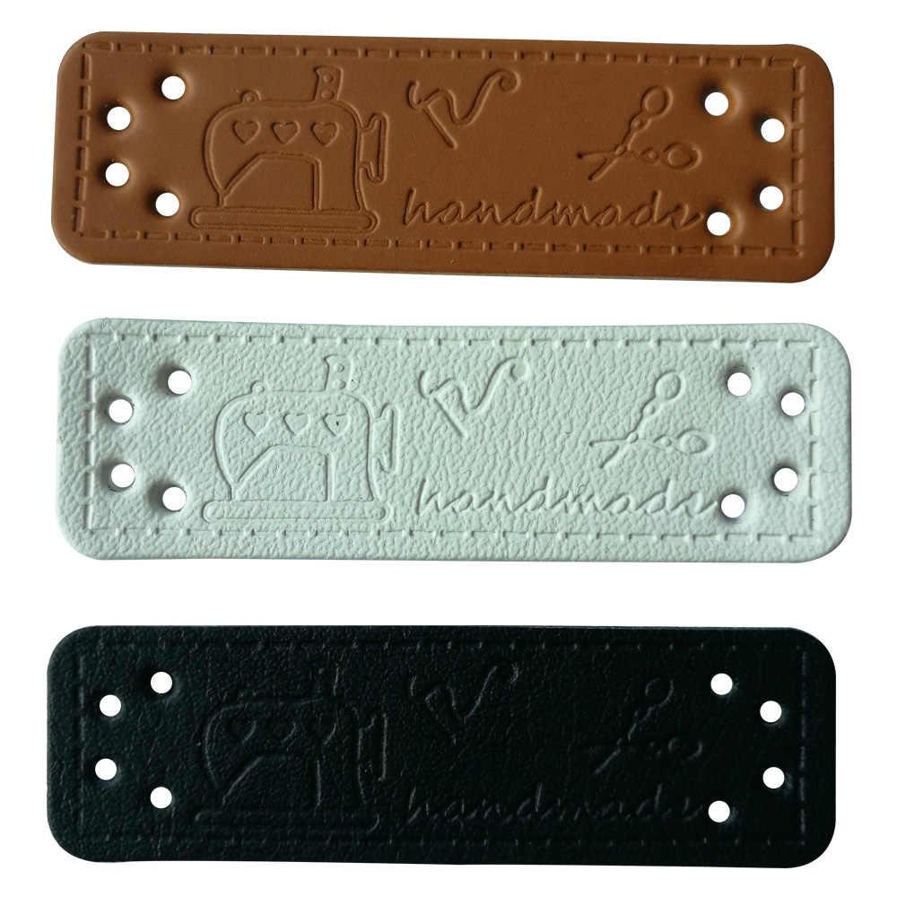 d58d6199e432 Швейные инструменты кожаные швейные принадлежности ручной работы кожаные  бирки для джинсов Одежда Сумки декоративные кожаные этикетки