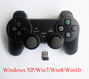 Image 3 - 2pcs computer gamepad wireless game controller 2.4Ghz PC game control joystick with double vibration for Windows Win7 Win8 Win10