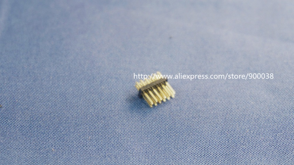 Lighting Accessories 100pcs 2x6 P 12 Pin 1.27mm Pitch Pin Header Male Dual Row Male Straight Gold Flash Rohs Reach Double Rows Pitch 1.27 Modern Techniques Connectors