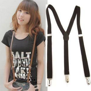 New Pu Leather Pure Color Men And Women Universal Belt Suspender Shaped Shirt Garters 1pcs Wide 1.3cm