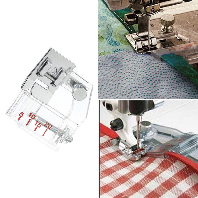Adjustable Sewing Presser Bias Tape Binding Foot Snap On For Brother Inspiration Sewing Machine Binding Foot